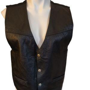 PARAGRAFF vintage men's motorcycle leather vest